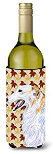 Borzoi Fall Leaves Portrait Michelob Ultra Koozies for slim cans SS4381MUK 多色 750 ml
