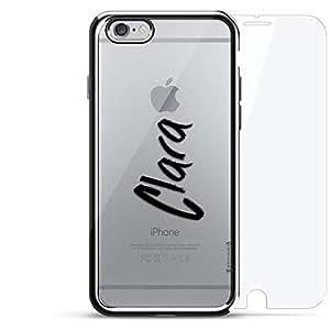 镀铬系列 360 套装:设计师手机壳 + 钢化玻璃 适用于 iPhone 6/6s PlusLUX-I6PLCRM360-NMCLARA1 NAME: CLARA, HAND-WRITTEN STYLE 银色