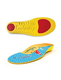 Footlogics 趣味儿童*鞋内底带足弓支撑儿童脚跟*(严重*),成长*,平脚 - 儿童,一对 Small Kids 11-13
