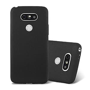 Cadorabo 手机壳与 LG G5(Design Frost)配合使用 - 防震防刮擦凝胶外壳保护壳碰撞皮肤后盖DE-108210 FROST-BLACK