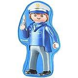 PLAYMOBIL United Labels City Action-儿童儿童枕头,儿童房警察,约 21.5 x 37 x 5 厘米,彩色