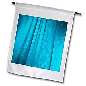 carsten reisinger illustrations 摄影–抽象蓝色背景湿浴帘后 LIT–旗帜 12 x 18 inch Garden Flag