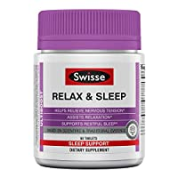 Swisse Ultiboost Relax & Sleep 补充剂 | 草本辅助剂 | 镁,柠檬薄荷,西番莲 | 60 粒