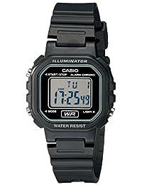 Casio Casio 女式 LA20WH-1ACF 经典数字黑色树脂手表