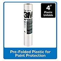 3M CP4 Hand-Masker Pre-Folded Contractor's Plastic, 4-Foot by 180-Foot