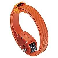 OTTOLOCK Steel & Kevlar 组合自行车锁 – 轻便、紧凑、耐用设计 – 非常适合骑自行车和户外装备