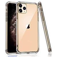 iPhone 11 Pro Max 手机壳,Serpeo iPhone 11 Pro Max 手机壳透明缓冲硬质 PC+ 软 TPU 轻质超薄透明防刮保护壳 iPhone 11 Pro Max 6.5 2019(透明)