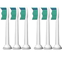 Philips 飞利浦  电动牙刷头 标准型6支装 HX6016适用于HX3216 HX6711 HX6761 HX6511 HX6972