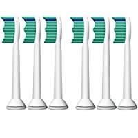 Philips 飞利浦 电动牙刷刷头 Sonicare Pro-result 专业型牙刷头6支装 HX6016/05; (此款商品全部从飞利浦厂家直接进货,品质保证,飞利浦官方客服热线 4008 800 008)