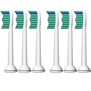 Philips 飞利浦 原装电动牙刷头 标准型6支装 HX6016(适用于HX6730/ HX6761/ HX3216/HX6711 HX6511/HX6972)