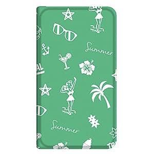智能手机壳 手册式 对应全部机型 薄型印刷手册 cw-191top 套 手册 海滩女孩 超薄 轻量 UV印刷 壳WN-PR286596-L ZenFone5 A500KL 图案C