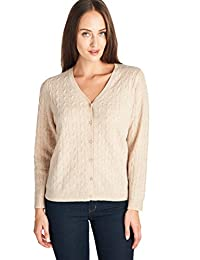 高款女式 * 羊绒针织 V 领开衫