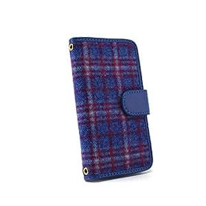 whitenuts 保护套翻盖式苏格兰格子 ブルー×ブルー 21_ VAIO Phone A VPA0511S
