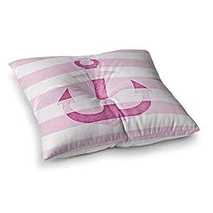 "KESS InHouse Monika Strigel""石榴红锚""方形地板枕 多种颜色 26"" x 26"" MS2012ASF02"