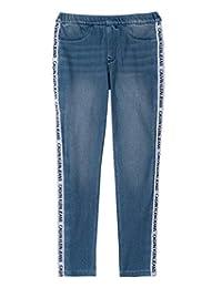 Calvin Klein 大女孩标志牛仔打底裤