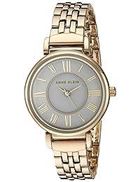 Anne Klein AK / 2158GYGB 女士手链手表,金色/灰色,均码