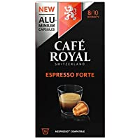 Café Royal Espresso Forte 50 Nespresso kompatible Kapseln aus Aluminium, Intensität 8/10, (5 x 10 Kaffeekapseln)