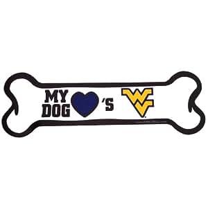 NCAA West Virginia Mountaineers Bone Shaped Car Magnet