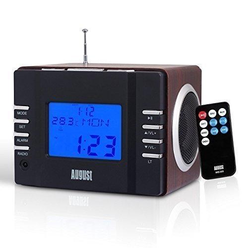 イギリスのブランドアウグストOcas MB300HポータブルスピーカーFMラジオプラグイン可能なUSB / SDカードの時間表示はアメリカとヨーロッパで目覚まし時計充電式スピーカーを設定できます10国内プラットフォーム同期販売品質保証(ダークブラウン)