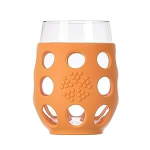 Lifefactory - Large Wine Glasses Orange - 17 oz.