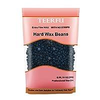 400g *硬蜡豆,TEERFU 无油打蜡适合去除各种皮肤上的比基尼和身体毛发 - 轻松*,无需*发,免费打蜡抹刀 400g