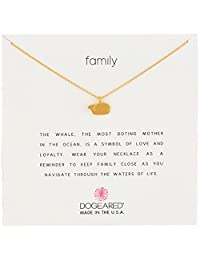 "Dogeared 亚马逊进口直采 美国品牌 Reminder 你在哪里 那里就是我的家""纯银 镀金 女士项链"