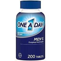 One A Day 男士多种维生素 补充维生素 A、C、E、B1、B2、B6、B12、钙和维生素 D 200片 (包装可能有所不同)