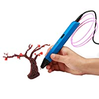soyan 专业3d 笔与 OLED 显示附带 ABS 细丝样品和绘图模板