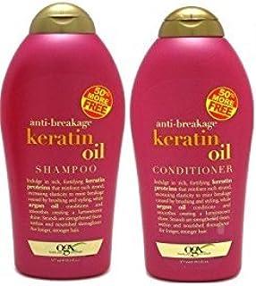 OGX 抗断角蛋白油洗发水 + 护发素(19.5盎司)