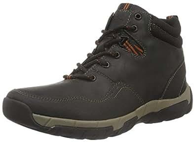 Clarks Men's Walbeck Top Ankle Boots Black (Black Weatherproof Leather) 8.5 UK