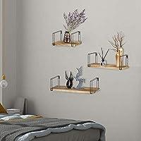 ALEKO 乡村风格木质壁挂储物架,带屏障 - 3 件套