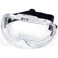 RK *重型工业保护化学防溅*护目镜,眼镜 - 透明,防雾设计,耐冲击,完美保*睛,适合任何项目 均码 适合大多数 透明 RK-GG201