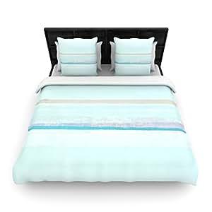 "Kess InHouse CarolLynn Tice ""Cost"" Blue Aqua Twin Woven Duvet Cover, 68 by 88-Inch"