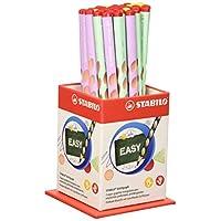 STABILO 思筆樂 Easygraph 石墨鉛筆 符合人體工程學,36支鉛筆HB,30支右手+6支左手,柔和顏色