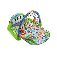 Fisher-Price 费雪 雨林钢琴婴儿健身游戏毯 BMH49 带音乐和灯光 初生婴儿玩具,绿色