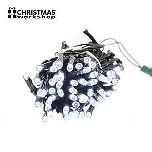 benross THE 圣诞灯100超亮 LED 串开槽机灯光–白色