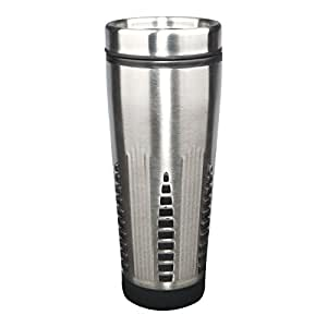 Liquid Logic 火箭马克杯:不锈钢外面带聚丙烯衬垫,453.59 g,蓝色 拉丝不锈钢 16盎司 WACT138P