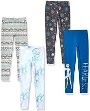 Disney 冰雪奇缘斑点斑马 - 女童幼儿和儿童 4 条装打底裤