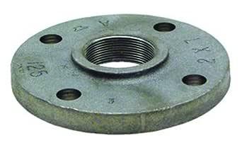 Anvil International 0309002608 镀锌铸铁面和钻孔螺纹法兰,3.81 cm x 12.7 cm