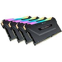 Corsair CMW32GX4 M4K4000 °C19 RGB Pro 32GB (4x 8GB) DDR4 4000MHz C19 XMP 2.0 内存爱好者 LED 照明黑色