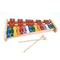 專業木制高音全尺寸彩色鐘琴木琴,帶 27 個金屬鑰匙,適合成人和兒童KJ-Xylo27-Colour