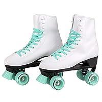 C SEVEN C7Skates 室内室外软人造皮革高帮四轮轮溜冰鞋