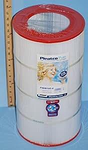 Pleatco PWW100-4 水道泳池 100 替换墨盒,休闲湾 WW-100 白色 FF258P