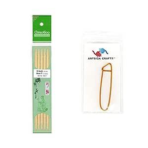 chiaogoo 33cm ( 20cm ) 双点竹制天然织针带1个 artsiga CRAFTS stitch 支架