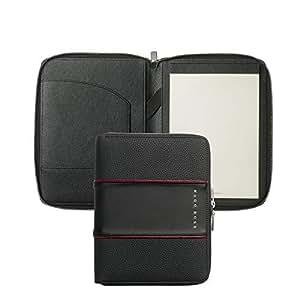 Hugo Boss HTM802A A5 会议文件夹 - 黑色/中号 红色