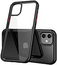 Apple iPhone 11 Pro Max *护套超混合设计 (2019) |透明 iPhone 11 Pro Max 护套,适用于 iPhone 11 Pro Max 6.1 英寸 - 透明黑色