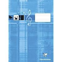 Clairefontaine 31014C 记事本非常适合音乐课堂,DIN A4,21 x 29.7厘米,8张,90克,1件,青*