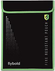防火文件袋 38.10 厘米 x 27.94 厘米 *存储以保护钞票证据 护照合法文档 现金 硅胶涂层双层玻璃纤维 非瘙痒防水 ASTM 认证