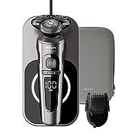 Philips 飛利浦 SP9860/16 干濕兩用電動剃須刀 9000系列 Prestige 納米科技精準刀片、修剪器、無線充電的Qi充電座
