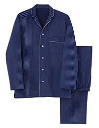 [郡是] 男士睡衣 KaiminNavi快睡导航丝绸 长袖长裤子 含丝绸的口袋